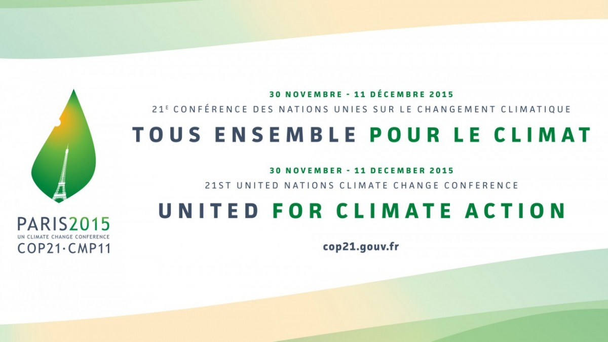 Une affiche de la COP 21, crédit photo : Google images