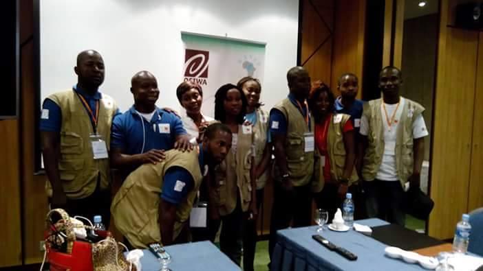 L'équipe des Blogueurs et observateurs pour @Peace_civ, crédit photo : Daouda Coulibaly