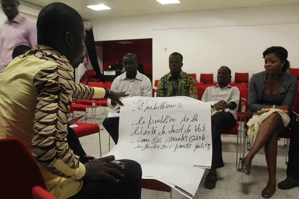 Une vue des participants en plein atelier, crédit photo : Daouda Coulibaly