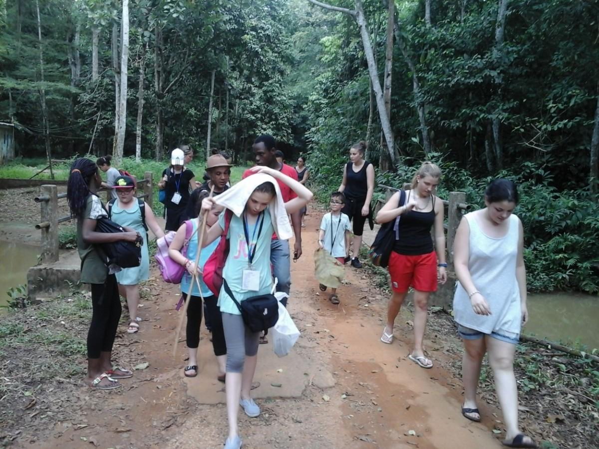 Balade écologique au cœur de la forêt du Banco. Crédit photo : Magloire Zoro