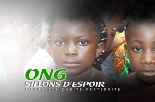 Article : Société civile : l'ONG Sillons d'Espoir s'engage au profit des populations vulnérables