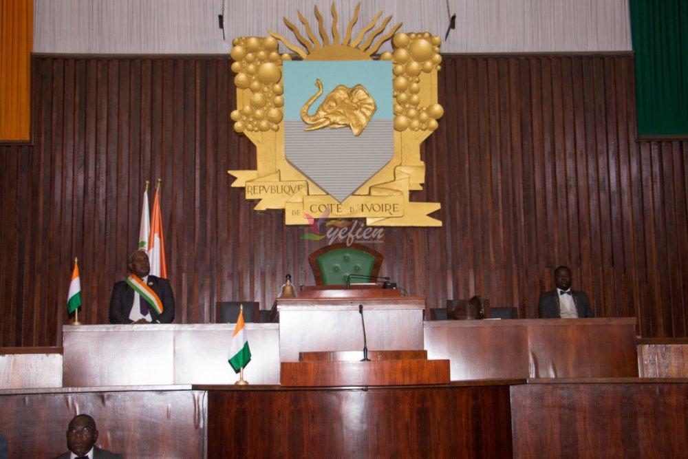 L'hémicycle de Côte d'Ivoire à l'occasion de la cérémonie solennelle d'ouverture de la deuxième session ordinaire 2016. © Photo : Yefien