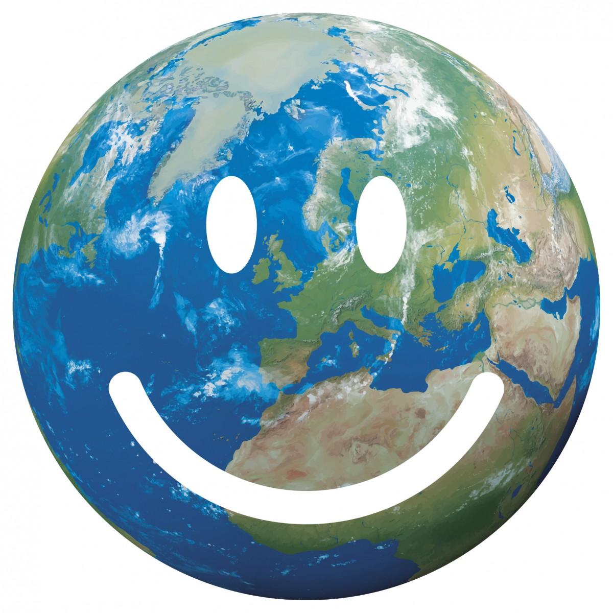 Le symbole de l'opération #SmileForThePlanet, initiée dans le cadre de la célébration de l'entrée en vigueur de l'#AccordDeParis