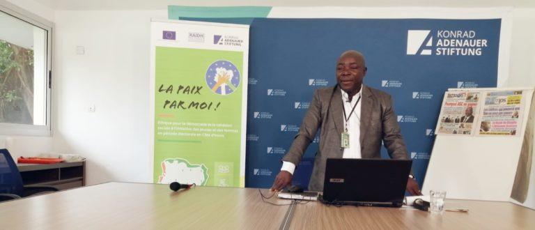 Article : Côte d'Ivoire : A cinq mois de l'élection présidentielle du 31 octobre 2020, la Konrad-Adenauer-Stiftung initie un atelier de renforcement des capacités de 100 journalistes